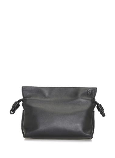 Loewe Loewe Flamenko  Büzgülü Kadın Deri Omuz Çantası 101545396 Siyah